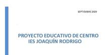Proyecto educativo del centro: IES Joaquín Rodrigo. Curso 2020/2021.