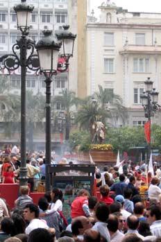 Procesión del Domingo de Ramos a su paso por las Tendillas, Córd