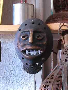 Mascara redonda de hierro, Marruecos