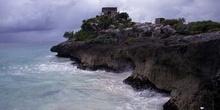 Vista de Tulum sobre el mar Caribe, México