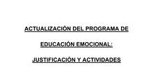 Actualización del Programa de Educación Emocional CEIP La Rioja