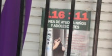 Cazando números en la ventana del CP Mirasierra
