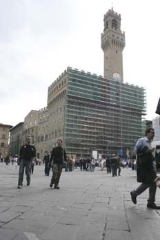 Palazzo della Signoria en obras, Florencia