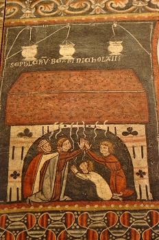 Pintura mural del sepulcro de San Nicolás, Huesca