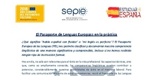 Información sobre la acreditación mediante EUROPASS