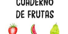 Cuaderno de frutas (creados por Entre nubes especiales)