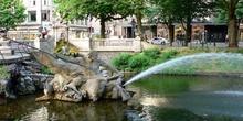 Fuente en Dusseldorf, Alemania