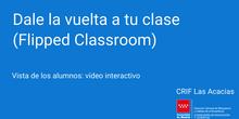 Visionado de un vídeo interactivo por los alumnos