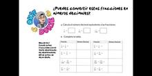 PRIMARIA - 6º - FRACCIONES Y NÚMEROS DECIMALES PRÁCTICA - MATEMÁTICAS - FORMACIÓN
