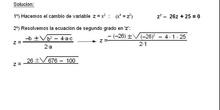 Álgebra: 13.Bicuadradas