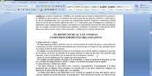UNIDAD 3. ELEMENTOS DE LA MÚSICA: RITMO Y MELODÍA, PARTE II
