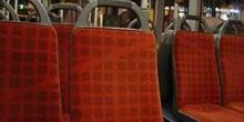 Interior de un autobús, Barcelona