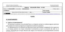 Ficha de Calentamiento para 1º ESO