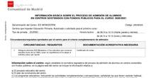 Información sobre Admisión 20-21 - Raíces