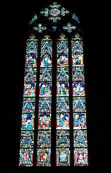 Vidriera de la Catedral de San Matías, Budapest, Hungría
