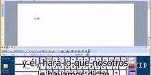 Uso de un teclado virtual para pulsador