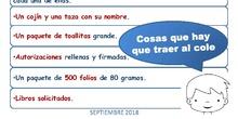 Material solicitado_Infantil_CEIP FDLR_Las Rozas_2018-2019
