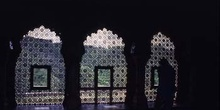 Celosías de mármol en el Palacio de Akbar, Ajmer, India