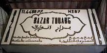 Letrero de un bazar, Marrakech, Marruecos