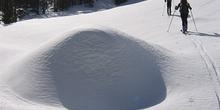 Montículo de nieve