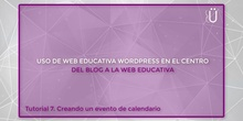 Curso Wordpress básico. Tutorial 7. Creando un evento de calendario
