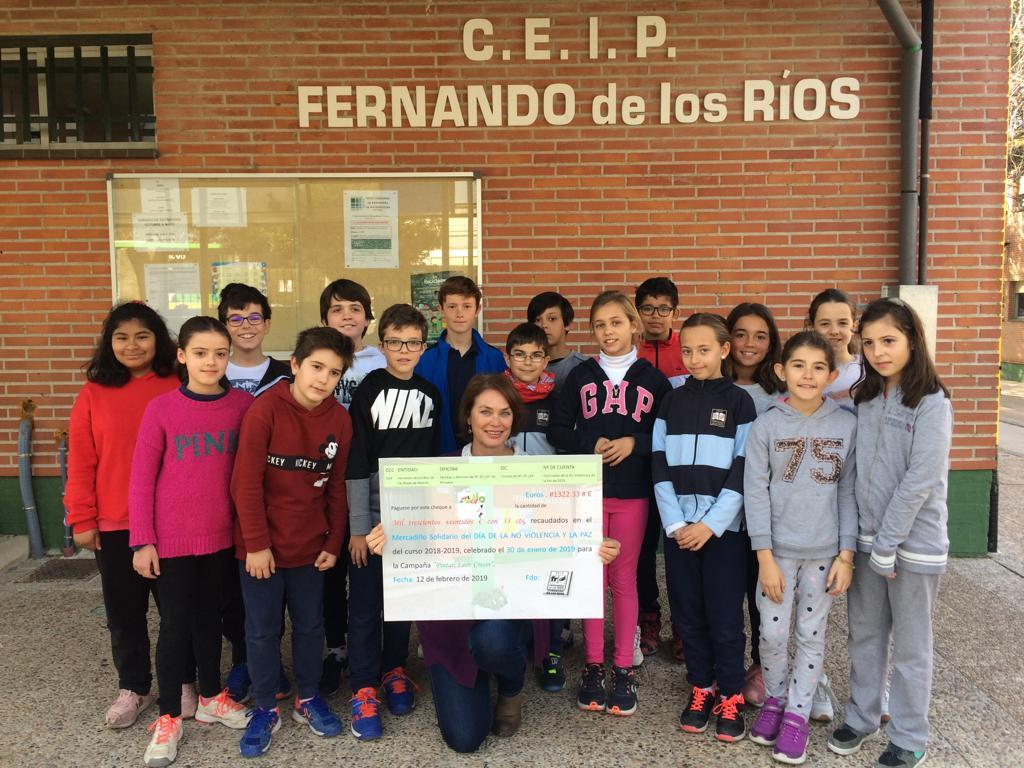 2019_02_19_Entrega cheque Mercadillo Solidario 2019_CEIP FDLR_Las Rozas 5