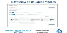 Matrícula de usuarios y roles - Aula virtual