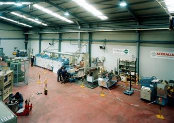 Laboratorio de Ensayos en una planta siderúrgica
