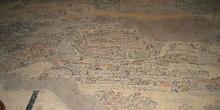 Mosaico con el mapa de Jerusalén en la iglesia de San Jorge, Mád