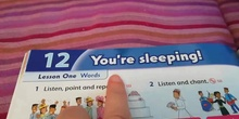 Unit 12: You´re Sleeping! (Vocabulary)