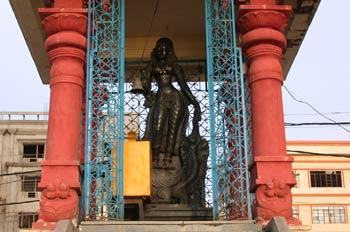Altar dedicado a una diosa hindú