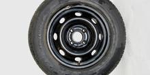 Neumático sobre llanta de acero