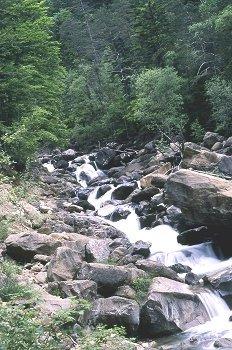 Río de montaña en Respomuso