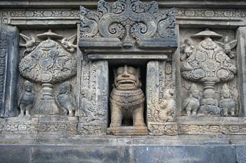 León simbolo de Prambanan, Prambanan, Jogyakarta, Indonesia