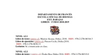 libro francés 2018 2019 rectificación