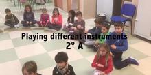 Diferentes instrumentos 2ºA