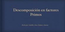PRIMARIA- 6º - MATEMÁTICAS - DESCOMPOSICIÓN EN FACTORES PRIMOS - FORMACIÓN