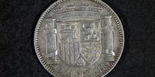 Anverso de una peseta de la Segunda República Española, 1934