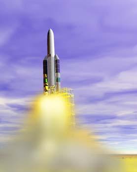 Despegue de un cohete espacial