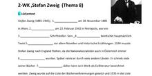 Stefan Zweig + Zweiter Weltkrieg (Arbeitsblatt) - 4º ESO