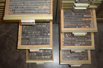 Chivalete para composición tipográfica
