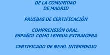 Certificado de Nivel Intermedio. Español. Modelo B