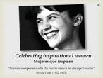 Celebrating inspirational women: un proyecto ABP en el aula de idiomas