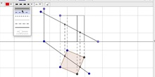 Intersección prisma por recta oblicua