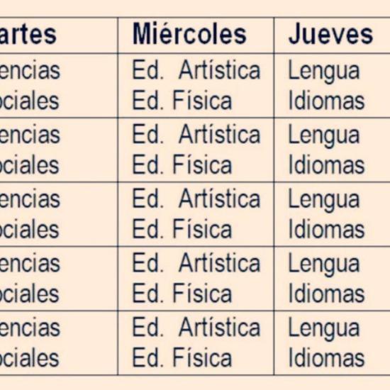 HORARIOS EDUCLAN