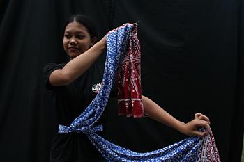 Postura tradicional, baile Javanes, Java, Indonesia