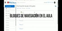 Aula Virtual III - Bloques de navegación en el aula