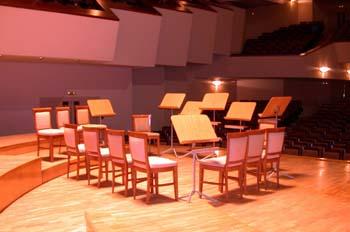 Escenario para un concierto sinfónico