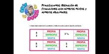 PRIMARIA - 6º - PRÁCTICA RELACIÓN DE FRACCIONES - MATEMÁTICAS - FORMACIÓN