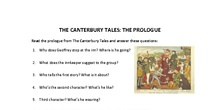 Activity on The Canterbury Tales - Prologue